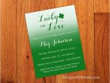 Lucky In Love Bridal Shower Invitations Ombre Lucky In Love Wedding Shower Invitation Modern