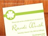 Lucky In Love Bridal Shower Invitations Simple Shamrock Lucky In Love Bridal Shower Invitation