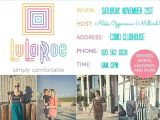 Lularoe Launch Party Invite Nikkis Lularoe Launch Party at Lake O Beach Clubhouse