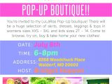 Lularoe Party Invite Template Brid S Lularoe Pop Up Boutique at Lularoe Shannon Gouin