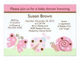 Lullaby Baby Shower Invitations Ladybug Lullaby butterfly Baby Shower Invitation