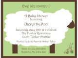Lullaby Baby Shower Invitations Lullaby Lamb Green Baby Shower Invitations