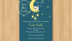 Lullaby Baby Shower Invitations Lullaby Sheep Baby Shower Invitation Diy Custom Printable