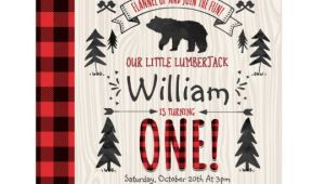 Lumberjack Birthday Invitation Template Lumberjack Birthday Invitation Lumberjack Party Zazzle Com