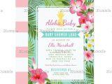 Lush Party Invitations Baby Shower Luau Invitations Tropical Flowers Pinterest