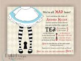 Mad Hatter Bridal Shower Invitation Wording Alice In Wonderland Mad Hatter Bridal or Baby Shower