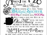 Mad Hatter Bridal Shower Invitation Wording Bridal Shower Invitations Free Mad Hatter Bridal Shower