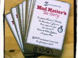 Mad Hatter Bridal Shower Invitation Wording Free Mad Hatter Tea Party Invitation Template
