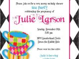 Mad Hatter Bridal Shower Invitation Wording Mad Hatter Tea Party Custom Baby Shower Invitation