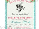 Mad Hatter Tea Party Baby Shower Invites Items Similar to Baby Shower Invitation Mad Hatter Tea