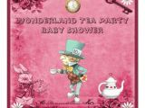 Mad Hatter Tea Party Baby Shower Invites Pink Mad Hatter Wonderland Tea Party Baby Shower 5 25×5 25