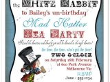 Mad Hatter Tea Party Birthday Invitations Mad Hatter Tea Party Invitation Alice In Wonderland
