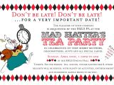 Mad Hatter Tea Party Birthday Invitations Mad Hatter Tea Party Invitations