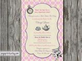 Mad Hatter Tea Party Bridal Shower Invitations Mad Hatter Bridal Shower Invitation Tea Party by Pegsprints