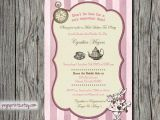 Mad Hatter Tea Party Bridal Shower Invitations Mad Hatter Bridal Shower Invitation Vintage by Pegsprints