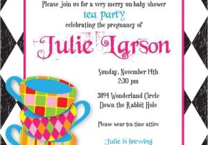 Mad Hatter Tea Party Invitation Template Free Mad Hatter Tea Party Invitations Templates Eloise