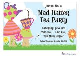 Mad Hatter Tea Party Invitation Template Free Party Invitation Clipart 54
