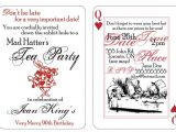 Mad Hatter Tea Party Invitation Template Mad Hatter Party Invitation