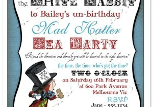 Mad Hatter Tea Party Invitation Template Mad Hatters Tea Party Printable Invitation