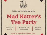Mad Hatter Tea Party Invitation Template Playing Card Invitation Template Diabetesmang Info