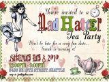 Mad Hatters Tea Party Invitation Ideas Mad Hatter Tea Party Invitations Decorations Art