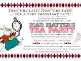 Mad Hatters Tea Party Invitation Ideas Mad Hatter Tea Party Invitations