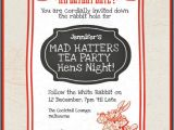 Mad Hatters Tea Party Invitation Ideas Mad Hatters Tea Party Hens Invites