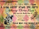 Mad Hatters Tea Party Invitation Ideas Things My Bookish Bucket List