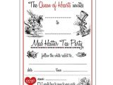 Mad Hatters Tea Party Invitations Free Templates Alice In Wonderland Invitations Free Google Search