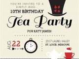 Mad Hatters Tea Party Invitations Free Templates Free Printable Invitations Mad Hatter