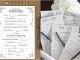 Mad Lib Wedding Invitation Fun Wedding Ideas Wedding Invitations A2zweddingcards