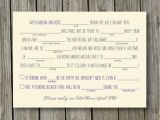 Mad Lib Wedding Invitation Summer Camp Rustic Wedding Mad Libs Reply Rsvp Card Digital