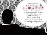 Mad Men Party Invitations Items Similar to Mad Men Holiday Party Mod yet Retro