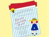 Madeline Birthday Party Invitations Printable Madeline Birthday Invitation