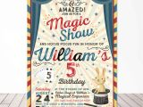 Magic Birthday Party Invitation Template Magic Party Invitation Magic Birthday Invitation Magician