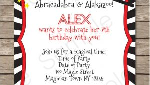 Magic Birthday Party Invitation Template Magic Party Invitations Template Magic Party Party