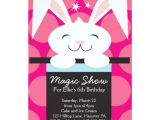 Magic Birthday Party Invitation Template Magic Show Birthday Party Invitations Zazzle