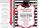 Magic Birthday Party Invitation Template Magician Invitations Magic Party Invitation Magic Birthday