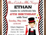 Magic Birthday Party Invitation Template Magician Party Invitation Magic Birthday Invitation