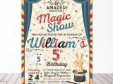 Magic Party Invites Magic Party Invitation Magic Birthday Invitation Magician