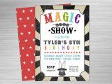 Magic Party Invites Magic Show Printable Party Invitation
