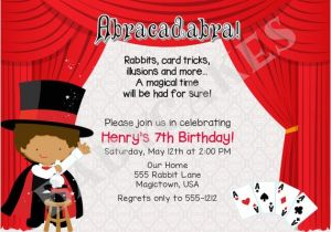 Magic Show Birthday Party Invitation Template Free Printable Birthday Party Invitations Templates