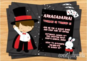 Magic Show Birthday Party Invitation Template Free Printable Magic Show Birthday Party Invitations