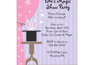 Magic Show Birthday Party Invitation Template Girls Magic Show Birthday Party Invitations Zazzle