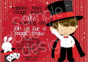 Magic Show Birthday Party Invitation Template Magic Birthday Party Invitations Bagvania Free Printable