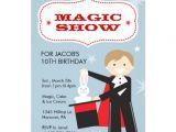 Magic Show Birthday Party Invitation Template Magic Show Birthday Party Invitations 5 Quot X 7 Quot Invitation