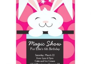 Magic Show Birthday Party Invitation Template Magic Show Birthday Party Invitations Zazzle