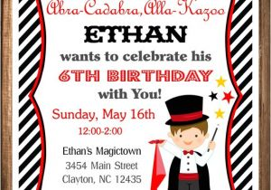 Magic Show Birthday Party Invitation Template Magician Party Invitation Magic Birthday Invitation