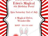 Magic Show Birthday Party Invitation Template Mother Duck Said Quot Lets Party Quot Magical Birthday Party