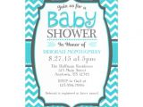 Magnet Baby Shower Invitations Turquoise Teal Chevron Magnetic Baby Shower Invite